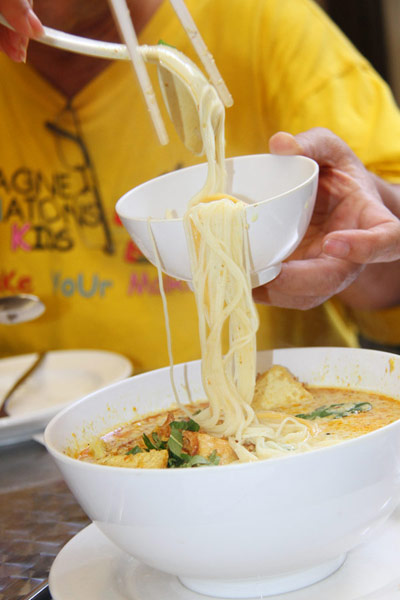 Laksa Singapura with Chicken (Click for larger image)