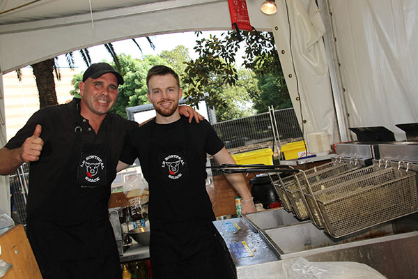 Sebastien and Mike, ready to fry their way into Western Sydney's hearts